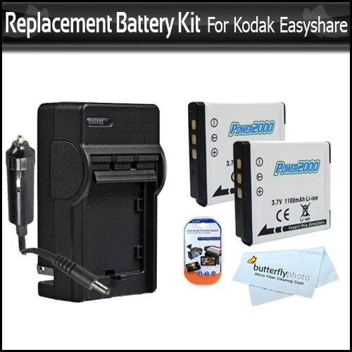 2 Pack Replacement Battery And Charger Kit For Kodak KLIC-7006 For Kodak EasyShare M522 M532 M552 M583 M580 M575 M550 M530 Mini M200 Touch M577 M750 M565 M215 M5370 M5350 Camera Includes Extended (1000Mah) Replacement KLIC-7006 Battery + AC/DC Charger