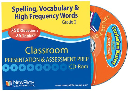 (NewPath Learning Mastering Spelling, Vocabulary and High Frequency Words Interactive Whiteboard CD-ROM, Site License, Grade 2)