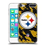 Official NFL Camou Pittsburgh Steelers Logo Soft Gel Case for Apple iPod Touch 6G 6th Gen