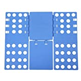 SONGMICS Adjustable Tshirts Folder Flip Plastic Clothes Folding Board Blue 57.5 x 69.5 cm LCF101