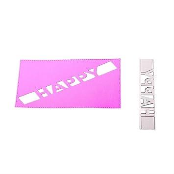 Diadia - Plantilla de troquelado de metal para manualidades, álbum de recortes, tarjetas,