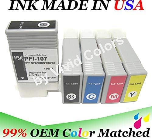 Any 3 tank fit PFI-107 ink cartridge canon ipf 670 680 685 770 780 785 pfi 107 t