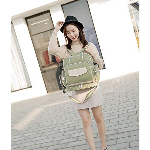 Multi-funcional de alta capacidad Mummy Bolsa Hombros Messenger Bag Bolsa Madre Madre-niño Moda mochila fuera del paquete de mujeres embarazadas ( Color : A ) C