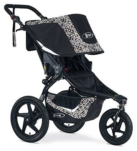 BOB Gear Revolution Flex 3.0 Jogging Stroller, Lunar Black
