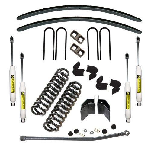 Superlift K512 Master Lift Kit; 6.5 in. Front/5.5 in. Rear Lift; Incl. Coil Springs/Add-A-Leaf Kit/Block Kit/Radius Arm Brackets/C-Bushing/Adjustable Track Bar/Superide (Superlift Suspension Lift Kit)