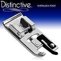 Distintivo Overlock Prensatela para máquina de coser cubierta - Se adapta a todos los cantantes de Snap-On de bajo vástago, hermano, Babylock, Euro-Pro, Janome, Kenmore, White, Juki, New Home, Simplicity, Elna y más.