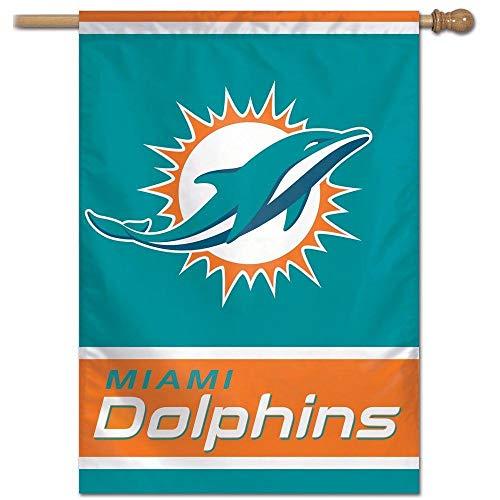 Bandeira Vertical 70x100 Logo Team Miami Dolphins