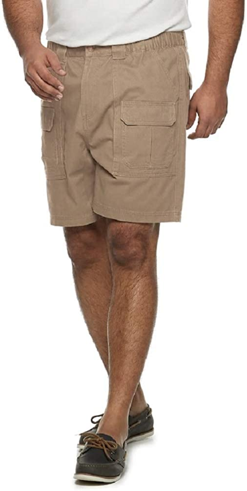 Croft & Barrow Men's Big & Tall Side Elastic Cargo Shorts