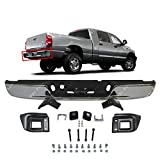 MBI AUTO - Chrome Steel - Rear Bumper Assembly for 2004-2008 Dodge RAM 1500 & 2004-2009 Dodge RAM 2500 3500 Pickup - CH1103111