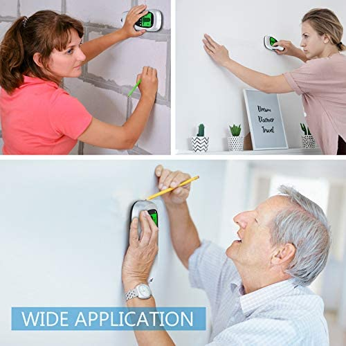 Stud Finder Wall Scanner - 6 in 1 Electronic Magnetic Stud Sensor Joist Drywall Wall Detector Beam Depth Finder Magnet Center Finding with LCD Display for Wood AC Wire Metal Studs Detection