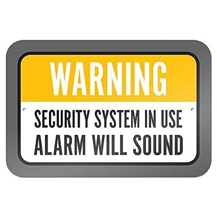 Sistema de seguridad advertencia en uso alarma sonará 9 x 6 ...