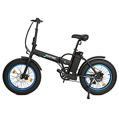 """ECOTRIC 20"""" New Fat Tire Folding Electric Bike Beach Snow Bicycle ebike 350W electric moped Electric Mountain Bicycles …"""