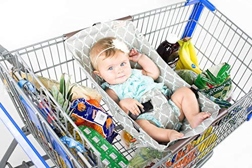 BINXY BABY Shopping Cart Hammock | The Original | Ergonomic Infant Carrier + Positioner (Rocker Cars Disney Deluxe)