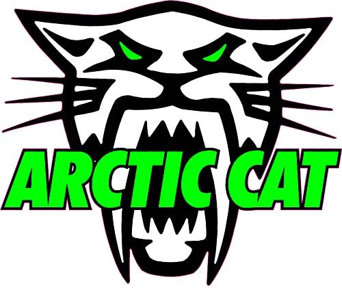 arctic cat vinyl decal window or bumper sticker arcticcat snowmobile atv