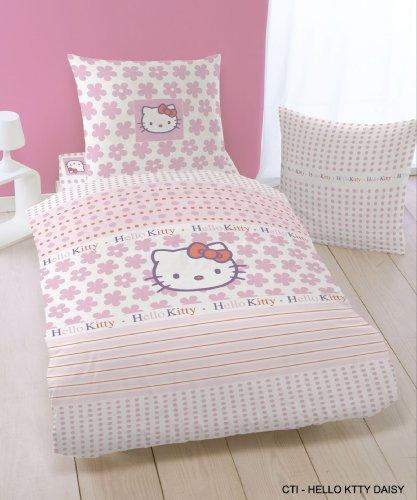Cti 036795 Bettwäsche Hello Kitty Daisy 135 X 200 Mit 80 X 80 Cm