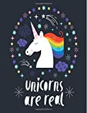 Unicorns Are Real: Unicorn Notebook (Composition Book Journal) (8.5 x 11 Large)