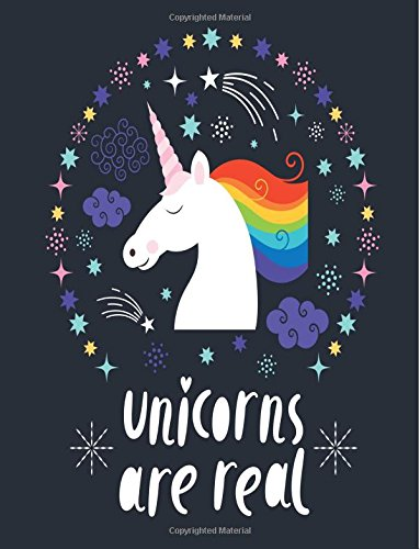 Download Unicorns Are Real: Unicorn Notebook (Composition Book Journal) (8.5 x 11 Large) pdf epub