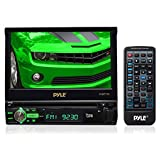 Pyle 7-Inch Single DIN In-Dash Motorized Touchscreen LCD Monitor with DVD/CD/USB/SD, AM/FM/Bluetooth, Built-In GPS with Maps PLBT72G (Discontinued by Manufacturer)