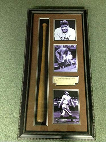 BABE RUTH SIGNED PERSONAL CHECK & 1950'S BAT 2 months after Action Comics #1 - MLB Cut Signatures