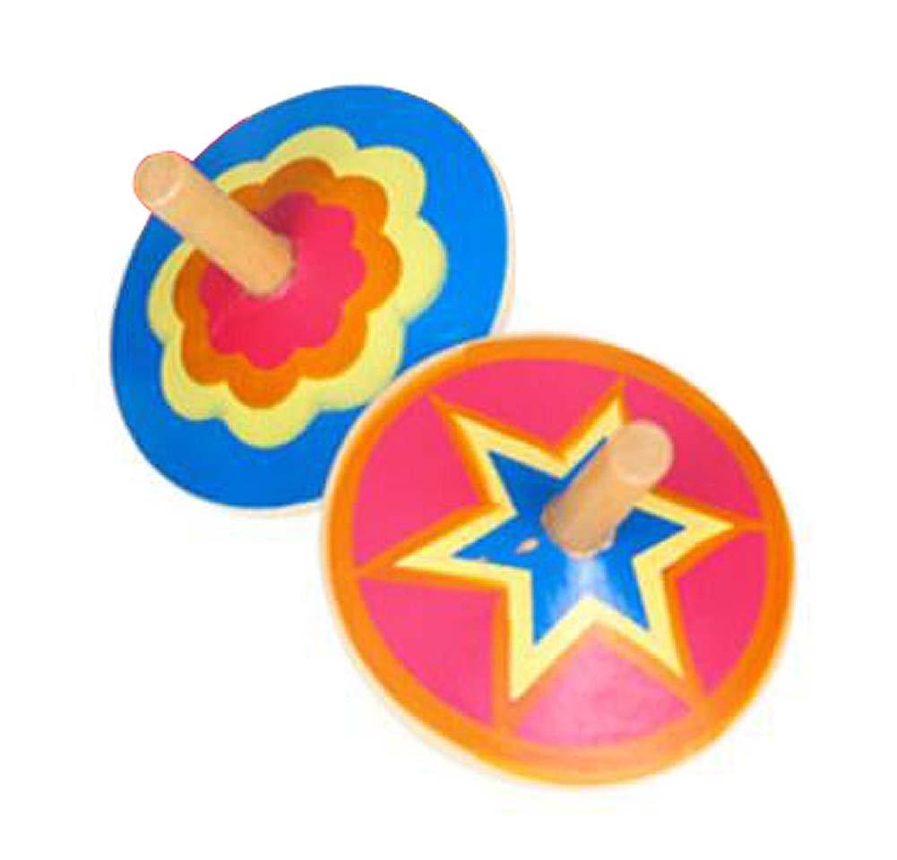 セットの2クリエイティブ手動回転木製Smallジャイロ男の子/女の子おもちゃgift-e B0783GH3L8
