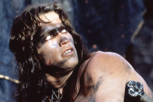 Arnold Schwarzenegger in Conan the Barbarian classic hunky pose 24x36 Poster
