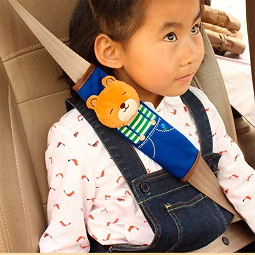 Gurtpolster Schulterpolster Schlafkissen Nackenst/ütze,Lion Weimay 1pcs Cartoon Kinder Gurtpolster Auto Sicherheitsgurt B/ügel Gurtschutz