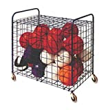Champion Sports ''Lockable Ball Storage Cart, 24-Ball Capacity, 37w x 22d x 20h, Black'' Unit of measure: EA, Manufacturer Part Number: LFX