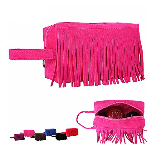 New Tassel Makeup Bags Travel Party Toiletry Storage Bag Organizer Cases Outdoor Rose (Outdoor Tassels)