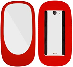 WESAPPINC Ultra Thin Silicone Case Cover Protective Skin for Apple Magic Mouse 1/2 ipad Silicone Case Anti-Scratch (Red)
