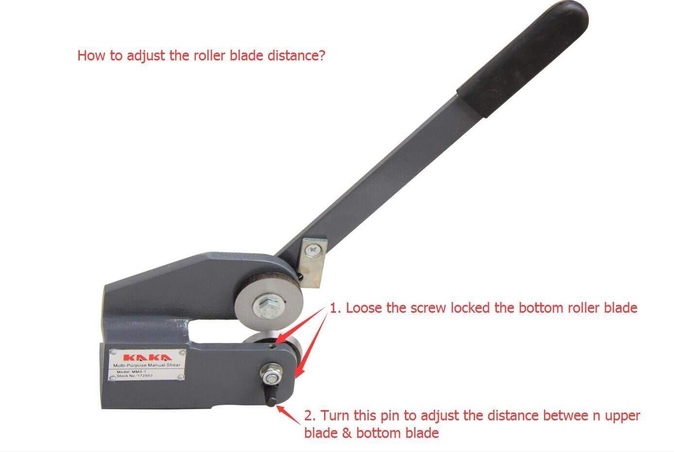 Kaka MMS-1 Multi-Purpose Bench Top Manual Shear, Sheet Metal Throatless Shear by KAKA INDUSTRIAL