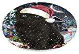 Doggie of the Day Have a Holly Jolly Black Cat Christmas Oval Envelope Seals OVE62548 (20)