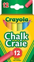 Crayola 51-0812 12 Coloured Chalk, School and Craft Supplies, Teacher and Classroom Supplies, Gift for Boys and Girls,...