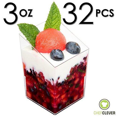 mini-dessert-cups-appetizer-bowls-with-recipe-e-book-clear-plastic-3-oz-with-mini-spoons-square-slan