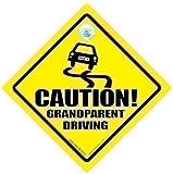 Vorsicht Großeltern fahren Auto Schild, grandparent Zeichen, baby on board aufkleber,...