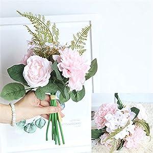 1 Bunch Dahlia Flower Bouquet Bride Bridesmaid Holding Flowers for Home Hotel Office Wedding Party Garden Craft Art Decor 118