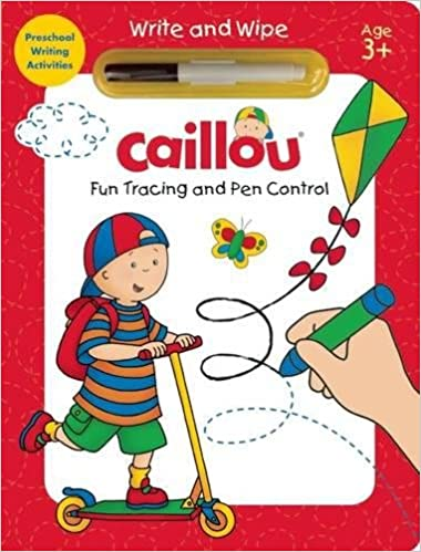 Amazon Com Caillou Fun Tracing And Pen Control Preschool Writing
