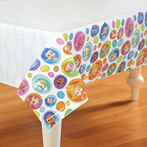 Amazon.com: Bubble Guppies Plastic Table Cover 54in x 96in: Toys & Games