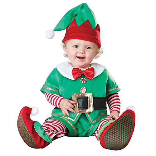 Christmas Elf Newborn Toddler Infant Baby Romper Costume Performing Dress (X Large(24-30 Months)) (Woody Halloween Costume 2t)