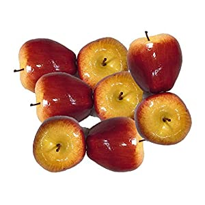 Artificial Red Apples for Decoration - Set of 8 9