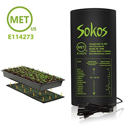 Seedling Heat Mat, Aplus+ Durable Waterproof Seedling Heat Mat Warm Hydroponic Heating Pad 10