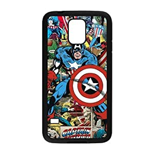 Personalized Fantastic Skin Durable Rubber Material Samsung Galaxy s5 Case - Captain America by runtopwell