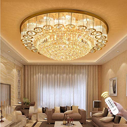 KALRI Luxury Crystal Chandelier LED Ceiling Lamp Flush Mount Modern Pendant Lighting Fixture