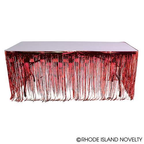 DollarItemDirect 144''X30''RED Metallic Fringe Table Skirt, Case of 24