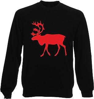 T-Shirtshock Felpa Girocollo Uomo Nera FUN2529 Moose G