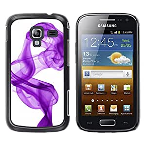 Be Good Phone Accessory // Dura Cáscara cubierta Protectora Caso Carcasa Funda de Protección para Samsung Galaxy Ace 2 I8160 Ace II X S7560M // White Purple Ink Clean