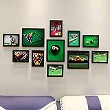 Home@Wall photo frame DIY Photo Frame Sets,Living Room Photo Frame Wall Creative Combination Sofa Background Frames Sets Of 11 ( Color : G , Size : 11frames/13570CM )