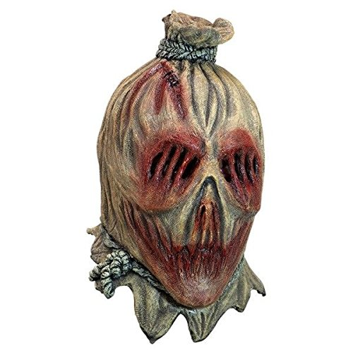 Ghoulish Productions Screamcrow Scarecrow Latex Mask Haunted House Halloween Full Over Head Mask