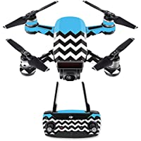 Skin for DJI Spark Mini Drone Combo - Baby Blue Chevron| MightySkins Protective, Durable, and Unique Vinyl Decal wrap cover | Easy To Apply, Remove, and Change Styles | Made in the USA
