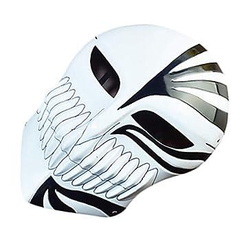 WHFDRHWSJMJ Mascara Halloween Terror de LED Cosplay Decoraciones navideñas Decoraciones de Halloween Máscaras de Halloween Entretenimiento