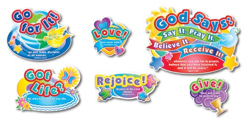 Carson Dellosa Christian God Says Bulletin Board Set (210008) -